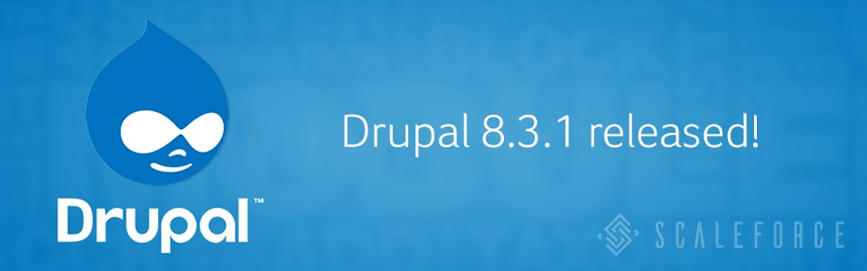 Drupal 8.3.1 is now available